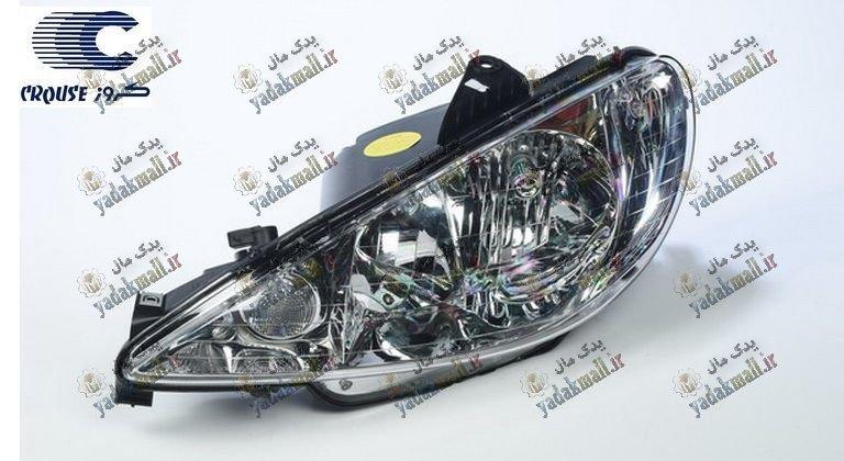 چراغ جلو پژو 206 کروز بدون موتور چپ